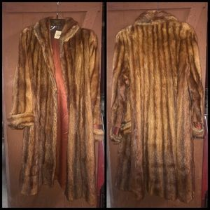 "Fur coat as is 45"" long length x 24"" pit to pit"